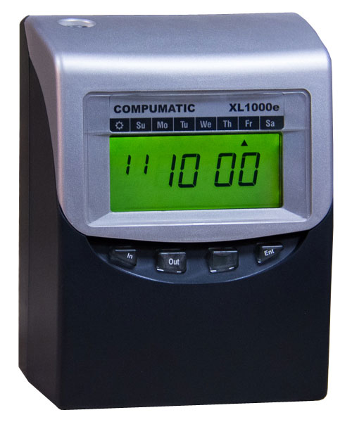 Compumatic XL1000e Computerized Calculating Time Recorder